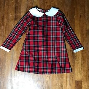 RARE EDITIONS CHRISTMAS PLAID PETER PAN DRESS 6X